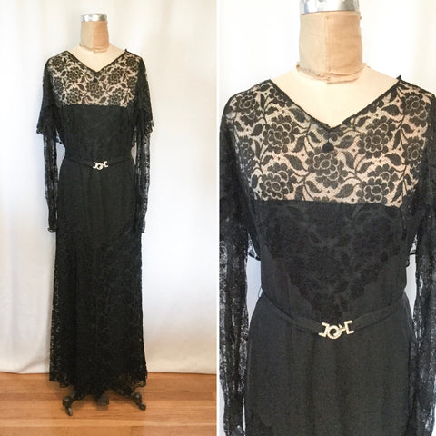 Hattie's 1930s Lace Dress | Medium
