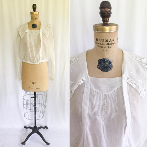 Edwina Edwardian Blouse | Medium