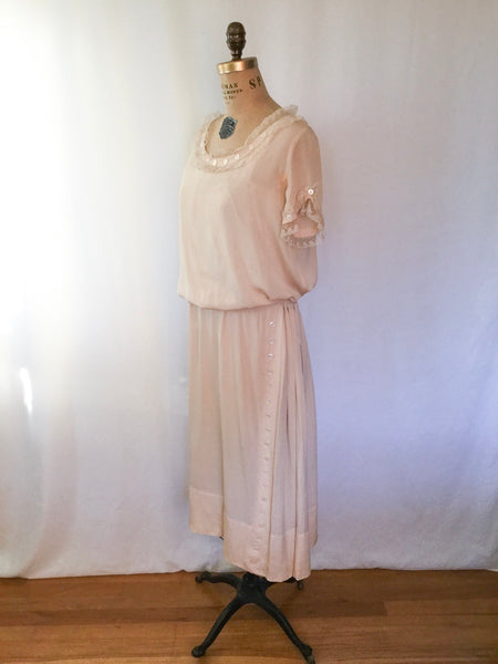 Mildred 1920s Silk Dress |  Small