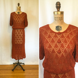 Sienna 1930s Knit Dress | Medium