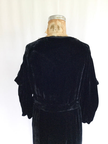 Garbo 1930s Velvet Dress | Medium