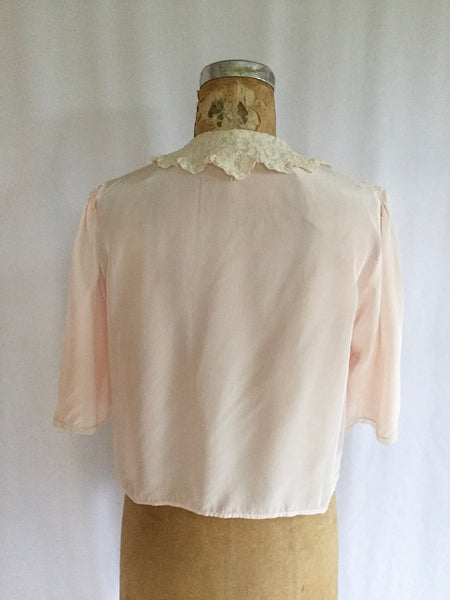 Belle Davis 1950s Bed Jacket | Small