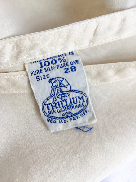 Trillium 1940s Silk Tap Pants | Small