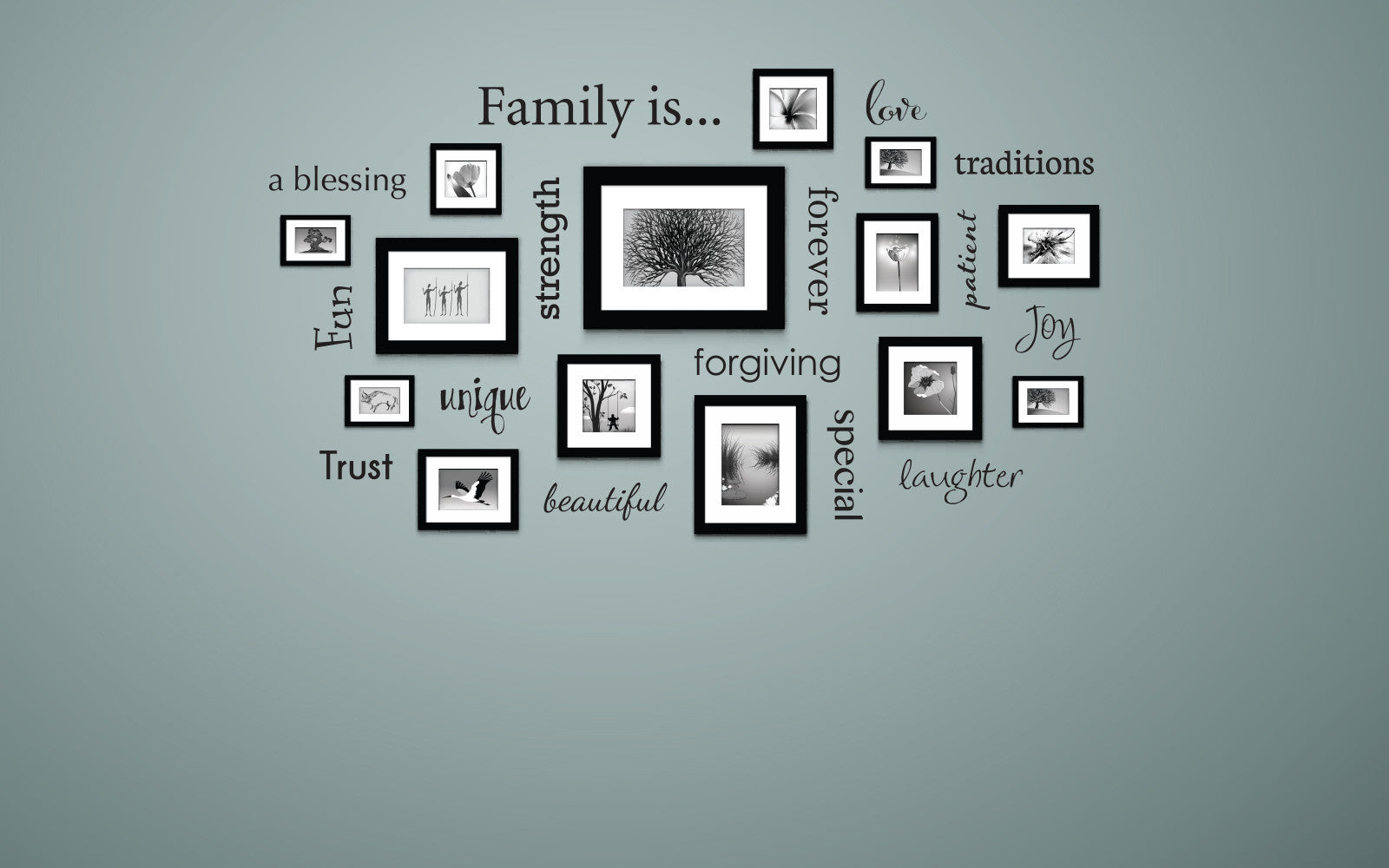 Family Is Wall Decal  by Stephen Edward Graphics