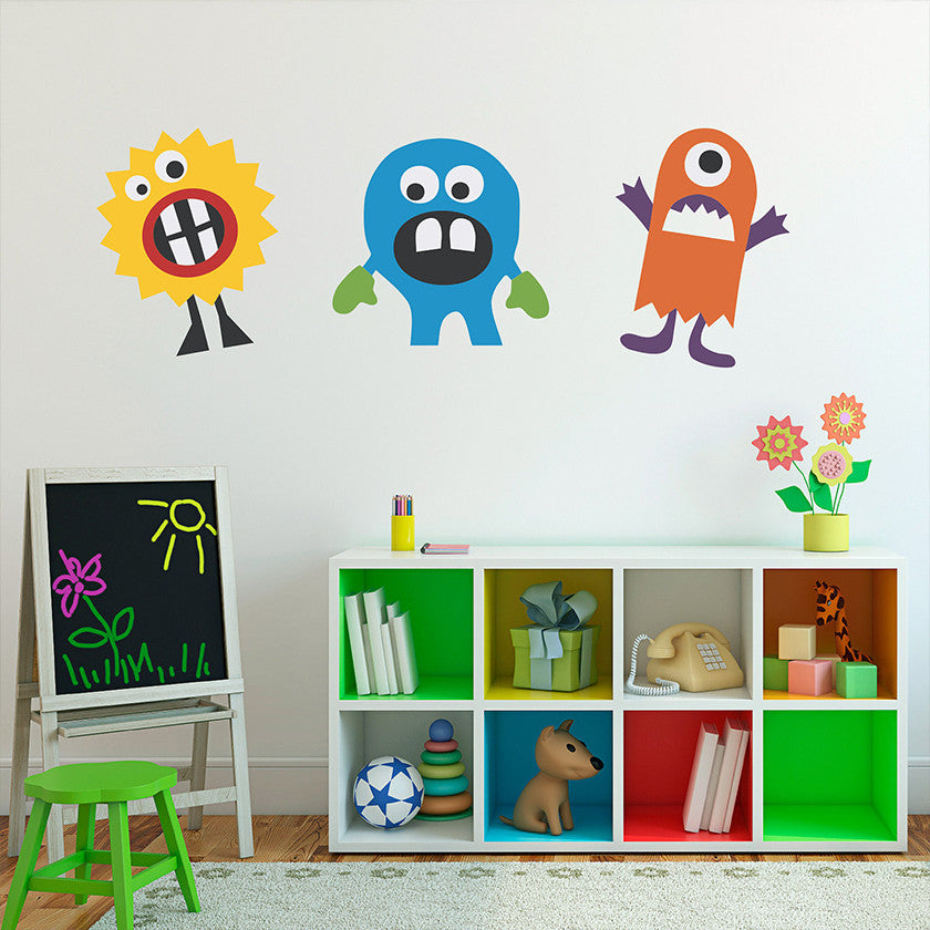 Monster Wall Decals by Stephen Edward Graphics