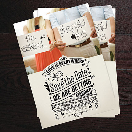 printed announcement cards by stephen edward graphics