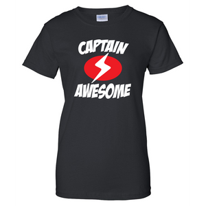 Captain Awesome Ladies T Shirt
