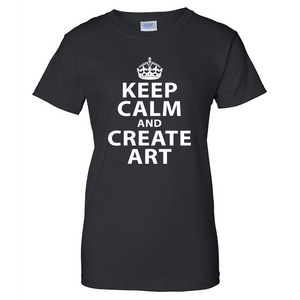 Keep Calm and Create Art Ladies T Shirt