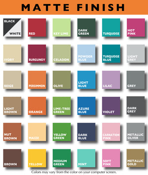 Matte Vinyl Color Chart by Stephen Edward Graphics