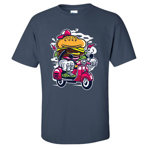 Burger Scooter Mens/Unisex T Shirt