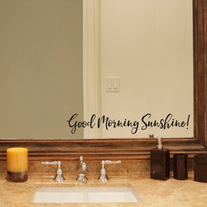Good Morning Sunshine Bathroom Mirror Wall Decal