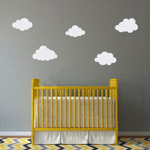 Set of 5 Puffy Cloud Nursery Wall Decals