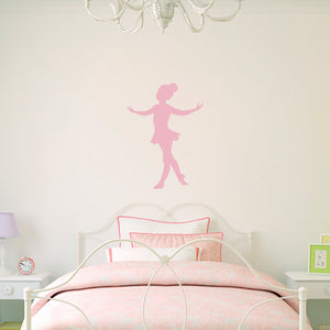 Little Ballerina Dancing Ballet Wall Decal