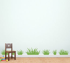 Set of 14 Grass Patches Nature Wall Art Decal
