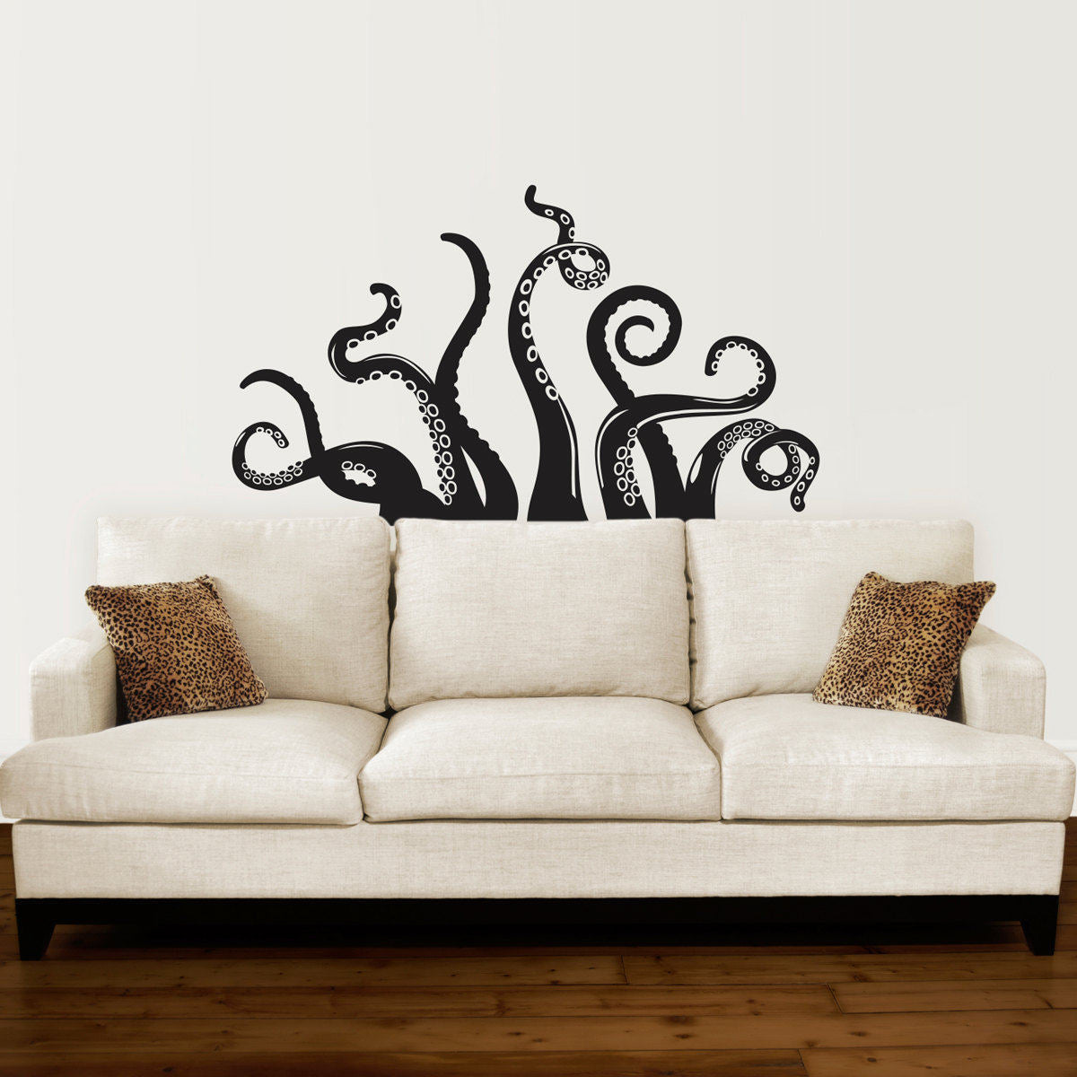 Octopus Tentacle Decal   Living Room Decor   Octopus Wall Sticker   Stephen  Edward Graphics