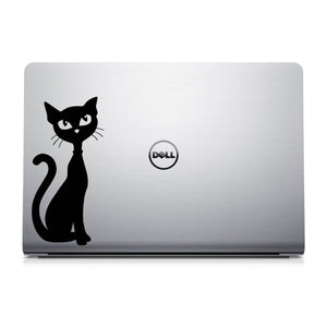 Skinny Kitty Laptop Decal - Cat Laptop Decal - MacBook Sticker - Cat Sticker
