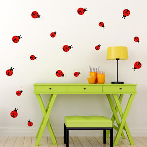 Set of 17 Ladybug Wall Decals