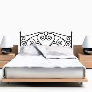 Queen Size Scroll Headboard Wall Decal