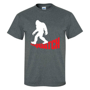 Sasquatch T-Shirt - Squatch Graphic Tee - Big Foot Novelty Shirt