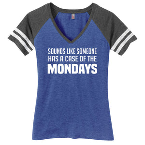 Case of the Mondays Ladies Game Day Style Ring Spun with Stripes T-Shirt