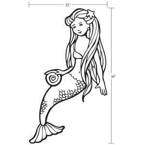 Mermaid Dimentions Large Girls Bedroom Wall Decal