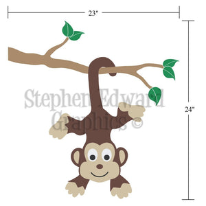Dimensions Monkey on Corner Children's Wall Decal