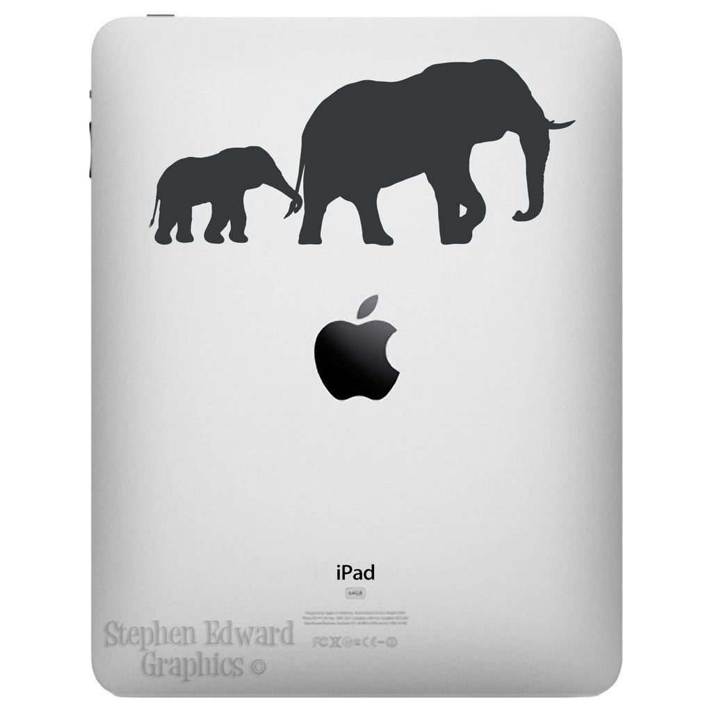 Elephant and Baby iPad Decal