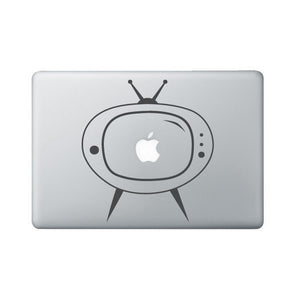 Retro TV Laptop Decal - Retro Macbook Decal - TV Laptop Sticker