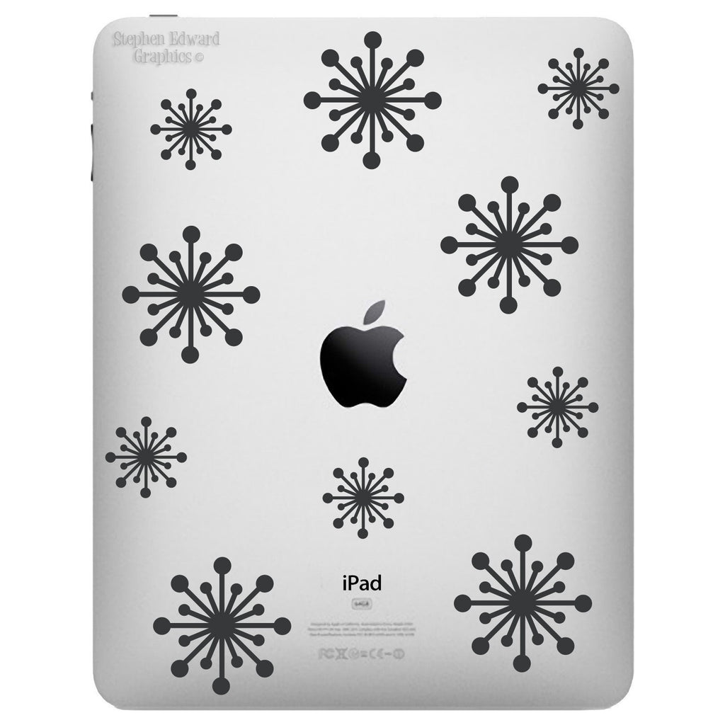 Fifties Starbursts iPad Decal