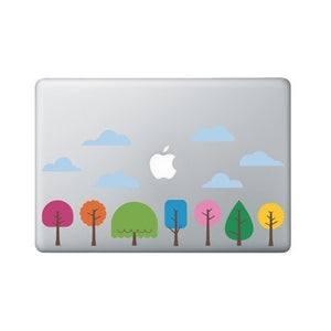Funky Little Trees Decal - Laptop or Macbook Decal - Laptop Accessory