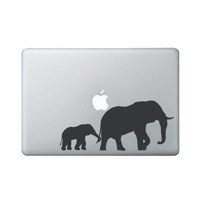 Elephant and Baby Laptop Decal