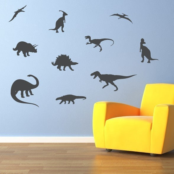 Dinosaur Silhouette Wall Decal - Large