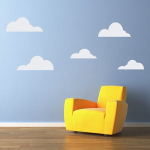 Cloud Wall Decals - (2 sets) 10 Clouds Total - Cloud Wall Art - Children Wall Decals