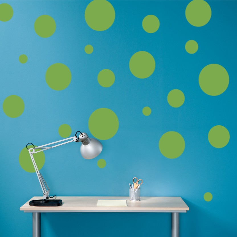 Polka Dots Decal Vinyl Wall Art - Children Wall Decals - Set of 22 ...