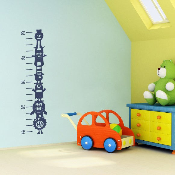 Silly Monsters Growth Chart Wall Decal