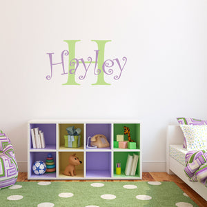 Initial and Personalized Name Medium Wall Decal Set