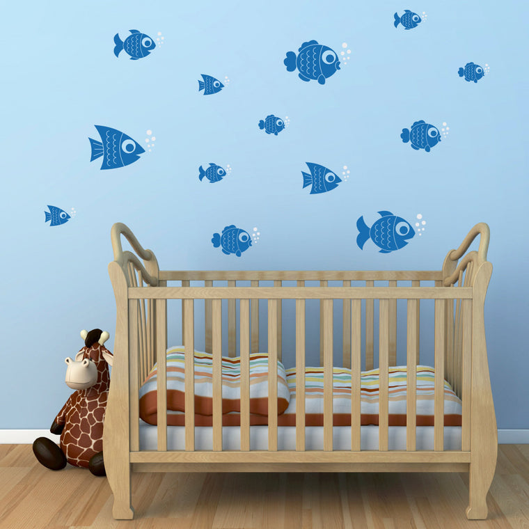 Fish Wall Decals - Set of 13