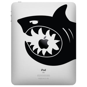 Shark Bite iPad Decal - Shark Tablet sticker by Stephen Edward Graphics