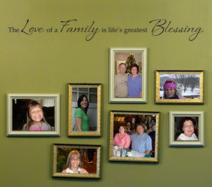 Love of a Family Large Picture Wall Decal