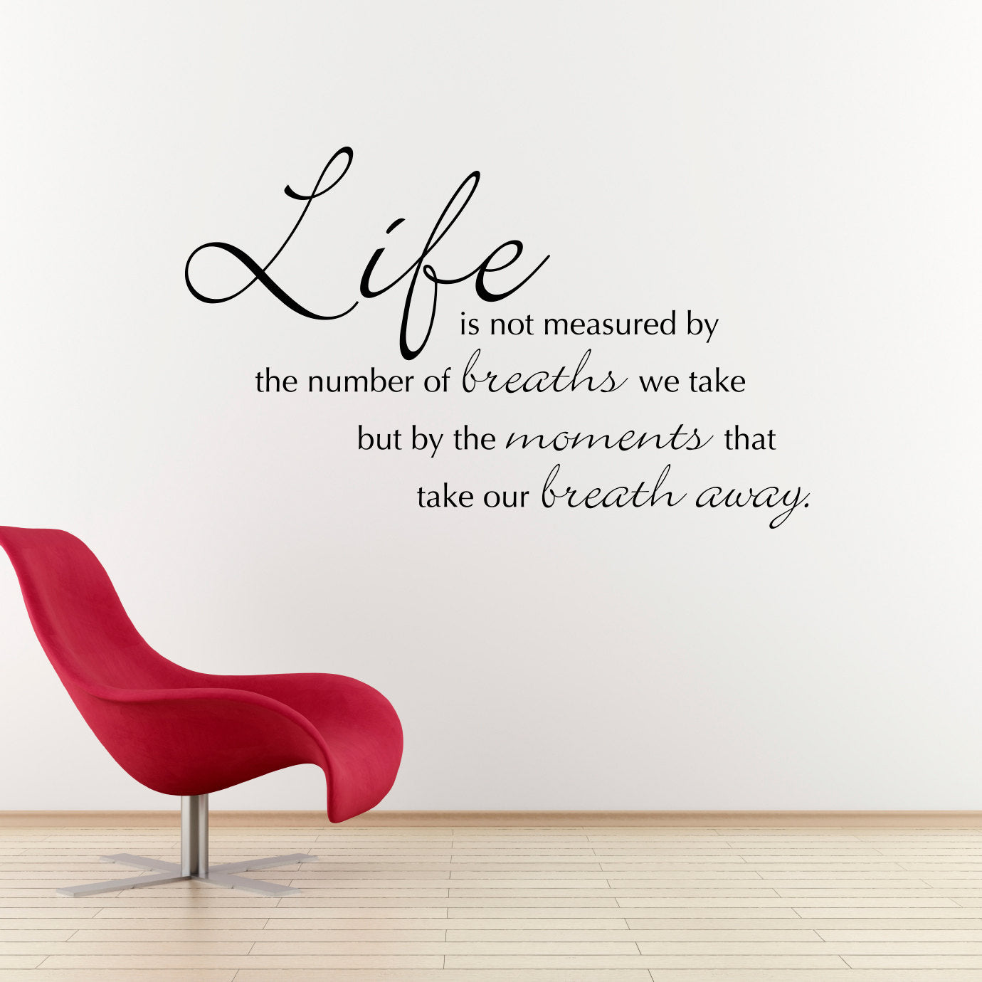 Life Is Not Measured Quote Life Is Not Measured Wall Decal  Quote Wall Decal  Large