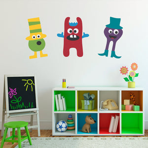 Monster Kids Bedroom Wall Decal Group