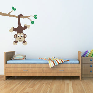 Monkey on Corner Children's Wall Decal