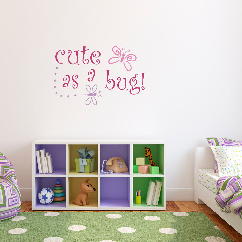 Cute as a Bug Wall Decal