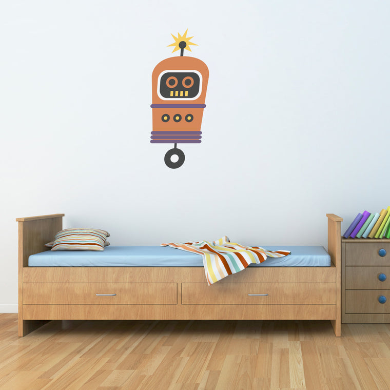Robot Wall Decal - Boy Wall Sticker - Children Wall Decals - 3