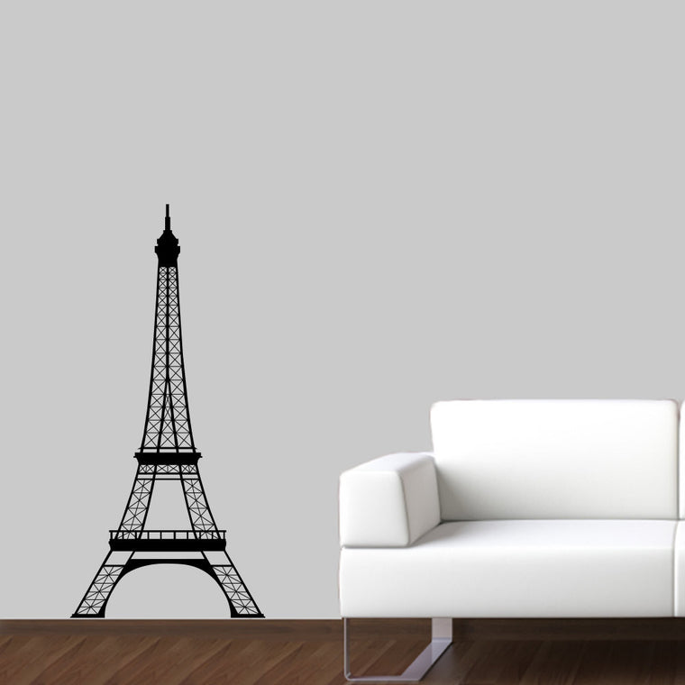 Eiffel Tower Wall Decal - Large - 4 Foot High