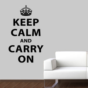 Keep Calm and Carry On British Wall Decal Quote