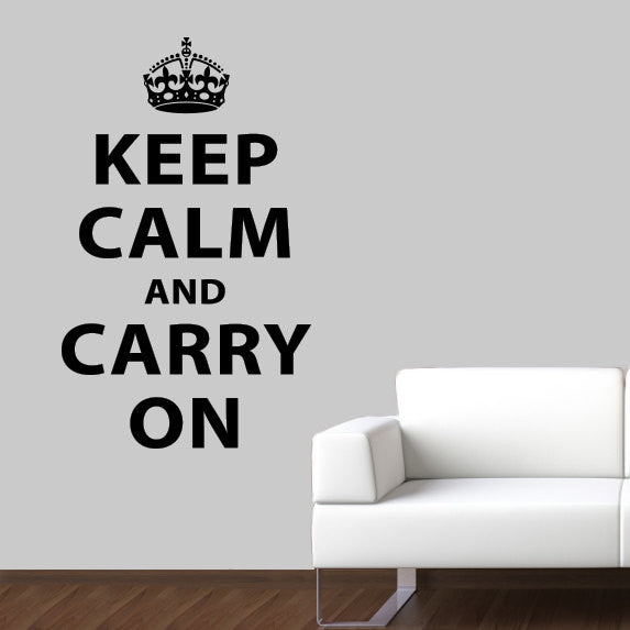 Keep Calm and Carry On Wall Decal - Large