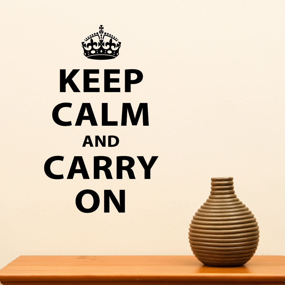 Keep Calm and Carry On Wall Decal - Medium