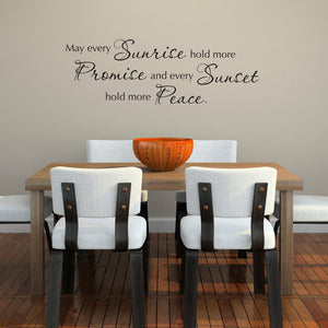 May Every Sunrise Wall Decal Quote