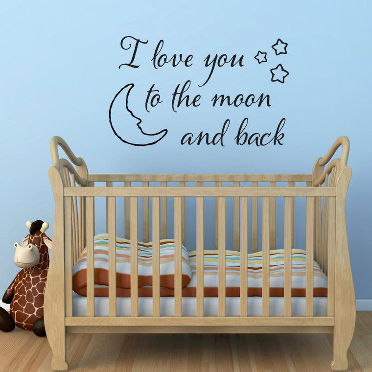I Love You to the Moon and Back Wall Decal - Large